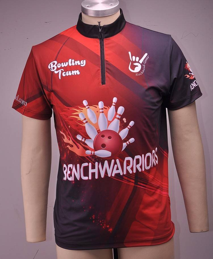 High quality polyester sublimated bowling polo shirt for Bj custom designs