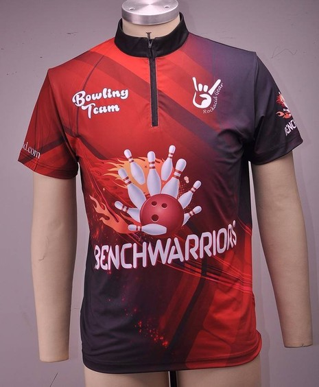 High quality polyester sublimated bowling polo shirt custom logo design 6BJ85754