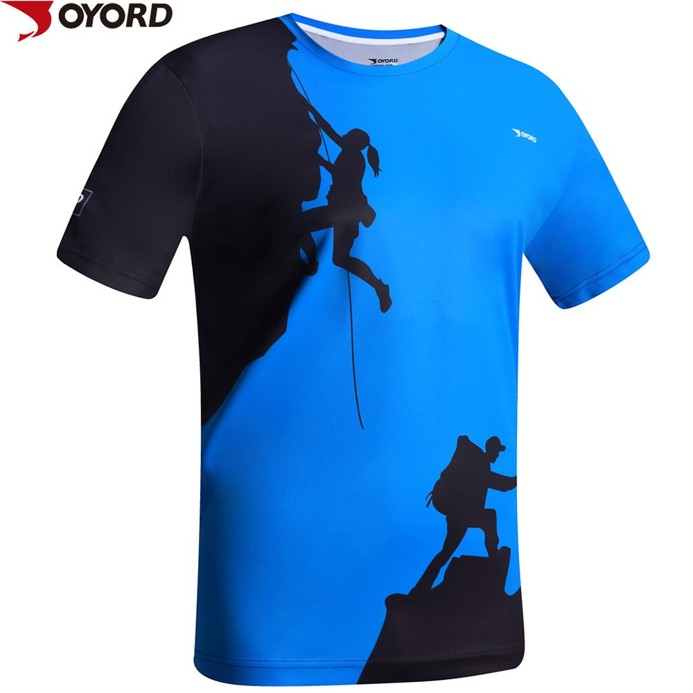 Custom Men Dri Fit Running Shirt Sublimation Printing
