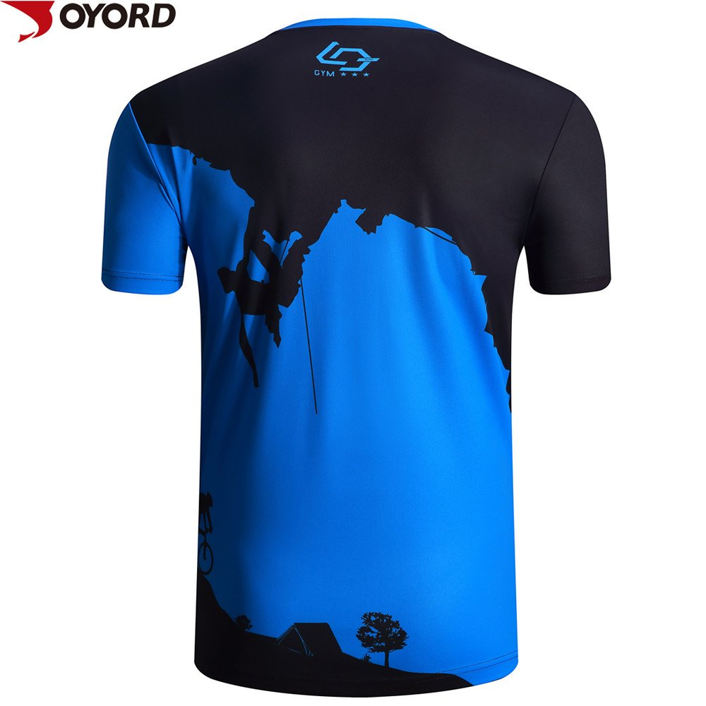 Custom men dri fit running shirt sublimation printing for Dry fit custom t shirts