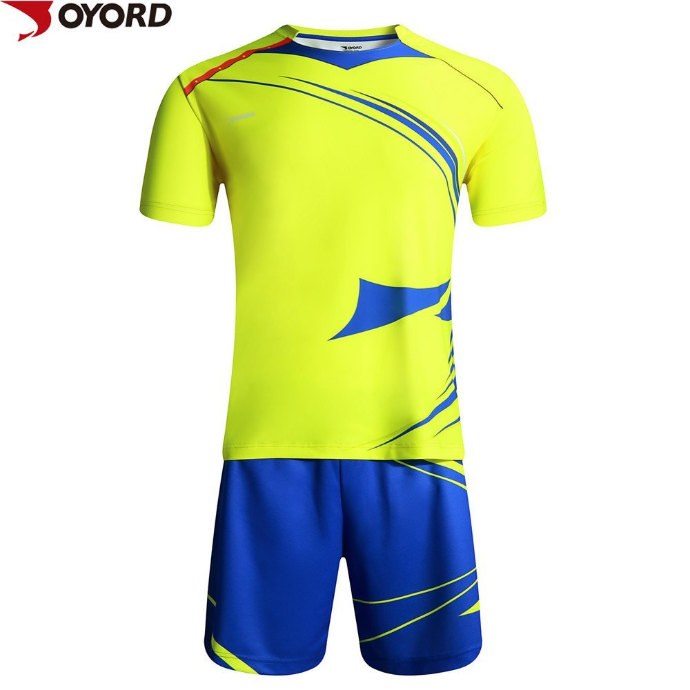 6218facf9 Custom high quality polyester sublimation printing soccer jersey