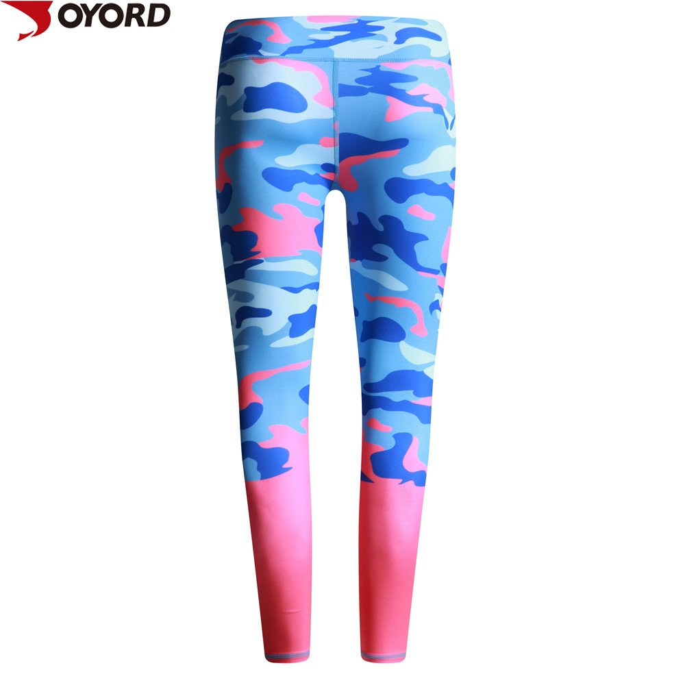 Custom Lycra Leggings Tight Pants Women Fitness Printed