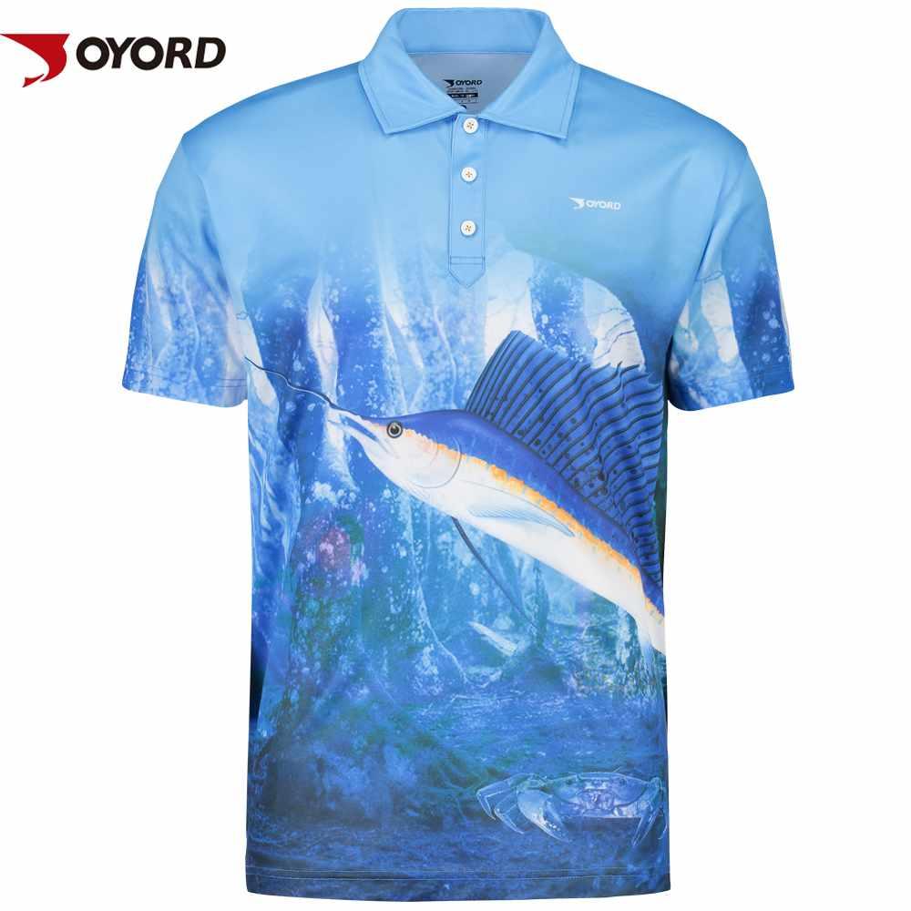 Custom uv protect polo neck fishing t shirt joyord sportswear for Custom fishing shirts