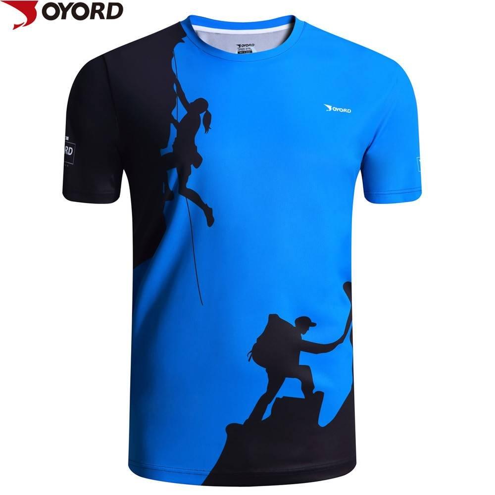 Custom men dri fit running shirt sublimation printing for Sublimation t shirt printing companies