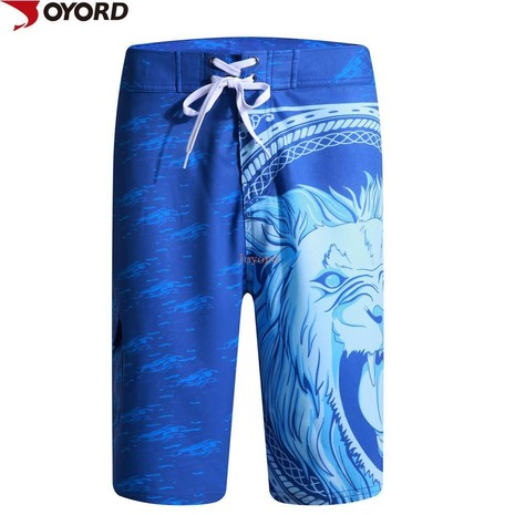 Custom high quality men swimming trunks sublimated 92% polyester 8% spandex shorts-6JK39318