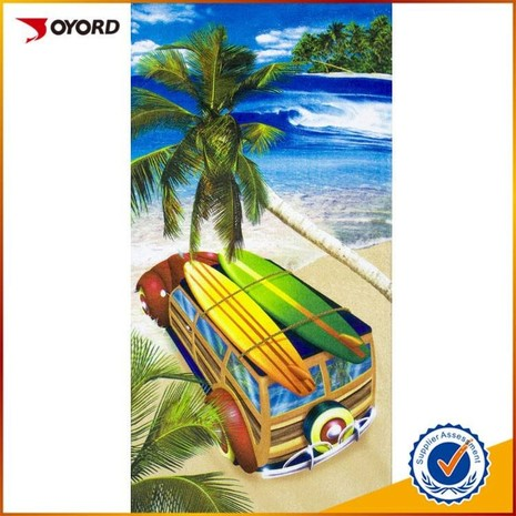 Professional wholesale custom high quality sublimated beach towel-06JK0785