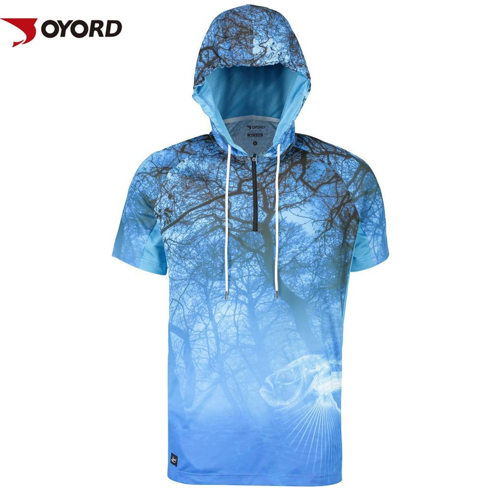 Custom Sublimation Polyester Fishing Shirts Long Sleeve Fishing Clothes