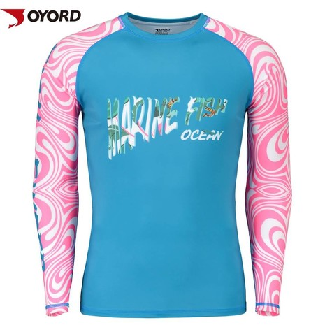 Custom printed rash guard,bjj mma sublimated rash guard